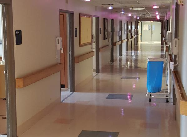 Our Low Voltage Division Installing Nurse Call Systems
